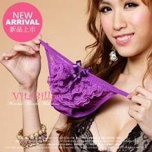 【情趣内衣】VitaBilla唯它彼乐 靓丽蕾丝紫 性感蝴蝶结女士内裤