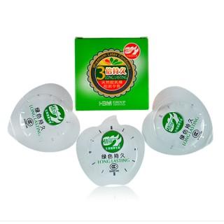 倍力乐 3倍持久套 避孕套3只装 三款颜色随机发货