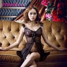【情趣内衣】STACEY史黛丝 镂空蕾丝绑带式吊带睡裙情趣内衣11103含T裤(售完下架)
