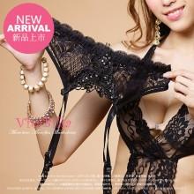 【情趣内衣】VitaBilla唯它彼乐 靓丽吊带黑  女士情趣内裤(售完下架)