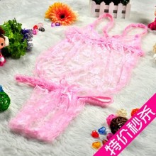 【情趣内衣】STACEY史黛丝情趣套装性感肚兜+内裤粉红8891
