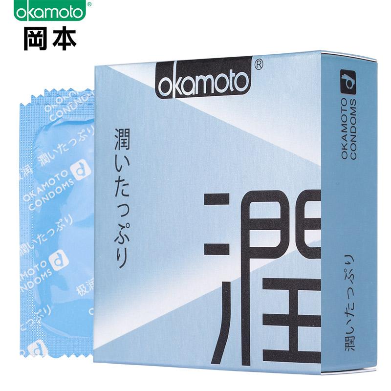 【计生避孕】【避孕套】冈本极润3只装(进口产品)