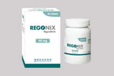 REGORAFENIB瑞戈非尼(REGONIX ,印度Stivarga) 40mg*28粒/盒,孟加拉BEACON碧康公司,【胃癌、肠癌】