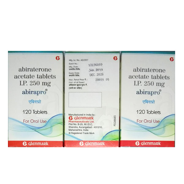 ABIRATERONE 阿比特龙(ABIRAPRO 泽珂)250mg*120片,GLENMARK公司,【前列腺癌】