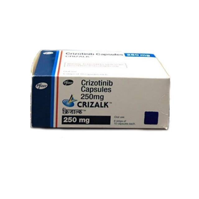 克唑替尼(赛可瑞)250mg*60片CRIZALK(Crizotinib)(印度辉瑞)【肺癌】