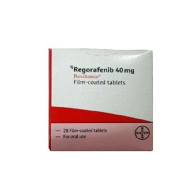 瑞戈非尼(拜万戈)40mg*28片(红盒)Resihance(Regorafenib)(印度拜耳)【胃癌,肠癌,肝癌】