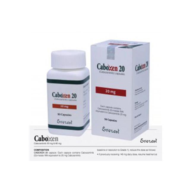 卡博替尼(184)20mg*90粒Caboxen(Cabozantinib)(孟加拉Everest)【肺癌】
