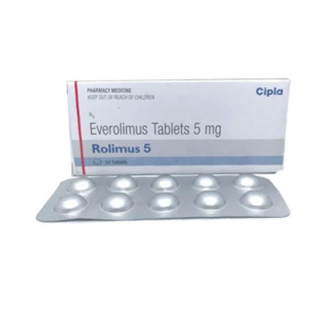 依维莫司(飞尼妥)5mg*10片Rolimus(Everolimus)(印度cipla)【肾癌】
