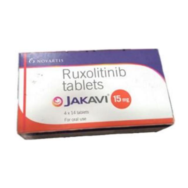 芦可替尼(捷恪卫)15mg*14片JAKAVI(Ruxolitinib)(印度诺华)【骨髓纤维化,白血病】