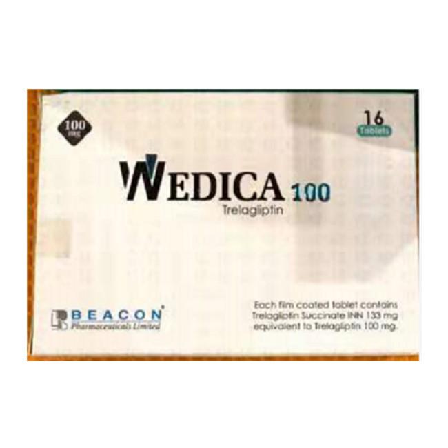 曲格列汀100mg*16片WEDICA(Trelagliptin) (孟加拉Beacon)【糖尿病】