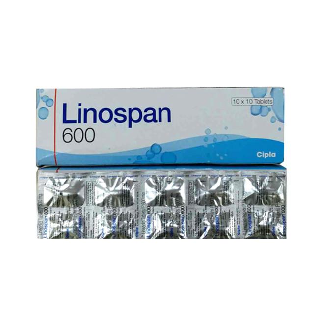 利奈唑胺(斯沃)600mg*100片Linospan(Linezolid) (印度CIPLA)【抗生素】