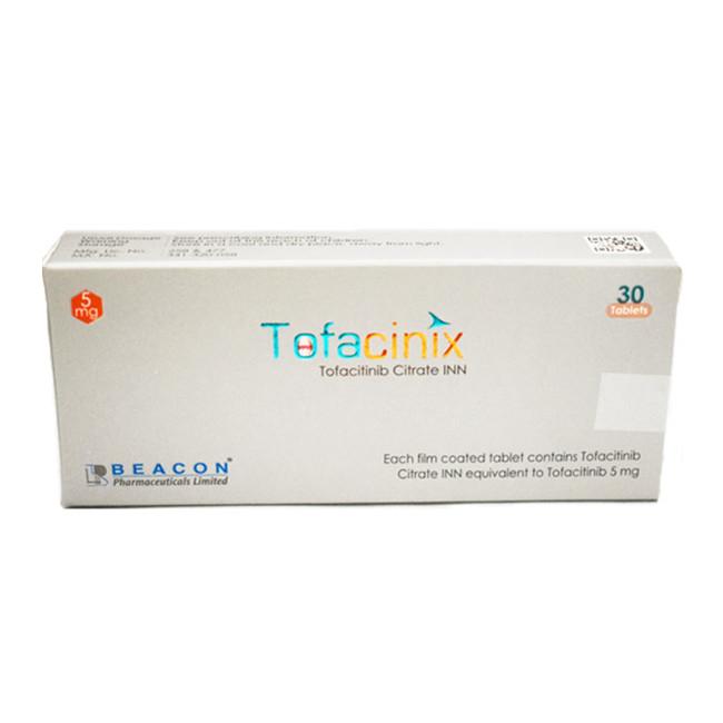 托法替布(尚杰)5mg*30片Tofacinix(Tofacitinib) (孟加拉Beacon)【类风湿关节炎】