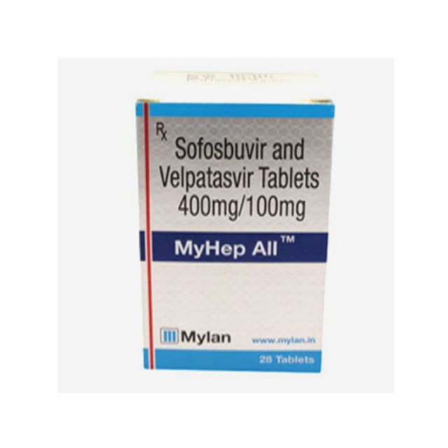 吉三代(丙通沙,索磷布韦 400mg+维帕他韦100mg)*28片MYHEP ALL(Sofosbuvir and Velpatasvir ) (印度Mylan)【丙肝】