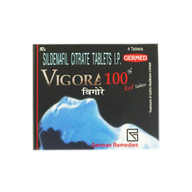 万艾可(西地那非)100mg*4片/盒VIGORE(Sildenafil)(印度Remedies)【助勃】威格拉,伟哥